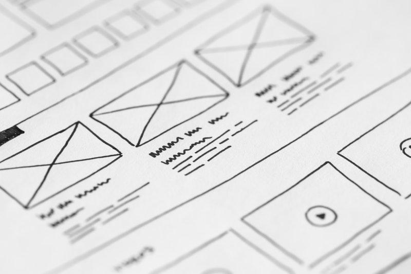 Wireframe készítés design systemmel